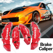 Brake Caliper Red Universal Brembo Style Disc Cover Front&Rear XS08