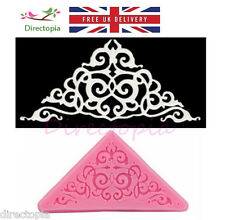 Sugar Lace Edible Regency Scroll Design Silicone Embossing Impression Mould Cake