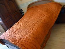 Ancien couvre lit couverture boutis, piqué Art déco 208x224 Old quilted coverlet