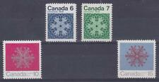 CANADA 1971 CHRISTMAS Issue #554-557 Snowflakes (set of 4) - MNH