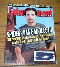ENTERTAINMENT WEEKLY mag TOBEY MAGUIRE Felicity Huffman Star Trek Johnny Depp