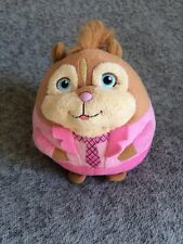 Alvin and the Chipmunks Ty Plush Brittany Chipette Round Pink Retired Circa 2012