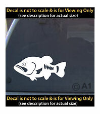 Bass vinyl 6 inch decal fishing boat lure line 4 car truck home laptop fun more
