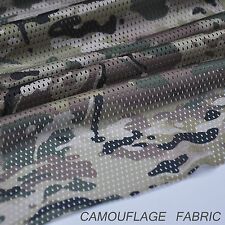 "Deep Multicam Pattern Camouflage Camo Net Cover Military 60""W Mesh Fabric Cloth"