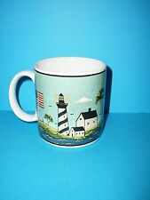 Sakura Coastal Breeze Warren Kimble  Mug Ceramic Coffee Cup Lighthouse Ship