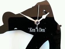 SNOOKER PLAYER WALL MOUNTED GIFT CLOCK CAN BE PERSONALISED