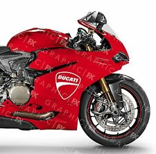 x2 Ducati Shield Logo Premium Vinyl Tank Fairing Decals - Stickers