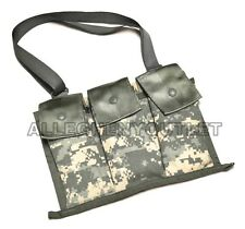 US Military AR 15 Bandolier 6 Magazine Pouch 30 Round w/ Strap Molle ACU NEW