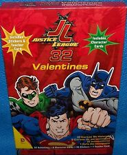 Valentines Day Cards (Box of 32) DC Comics Justice League w/ Stickers