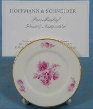 Meissen Tischkartenhalter / Place Card Holder -  Blumen Purpurmalerei Knauf #296