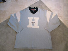 VINTAGE Tommy Hilfiger Sweater Shirt Adult 2XL XXL Crewneck Gray 90s Spell Out