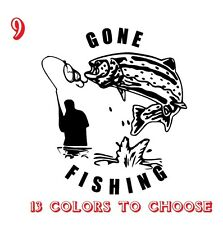 Trout Fishing Vinyl Stickers decals,car,window,van, Laptop (REF NO 9)
