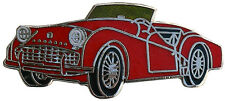 Triumph TR3A/B car cut out lapel pin - Red