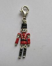 Sterling Silver Enamelled Clip on Toy soldier charm