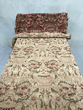 ITALIAN SILK BROCADE TAPESTRY FABRIC 7.5 Yards, 8.2 M Drapes Upholstery