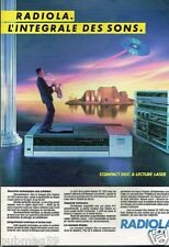 Publicité advertising 1984 Chaine Hi-Fi Radiola
