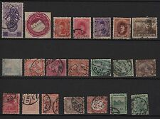 R47) Lot x21 timbres-stamps EGYPTE-EGYPT Classic-Stamps CLASSIQUES/Anciens