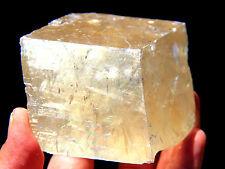 14.4 oz Yellow Calcite Cube, Guizhou, China! CA853