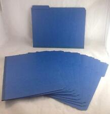Smead 21541 Dark Blue Colored Pressboard File Folders (10 Folders)