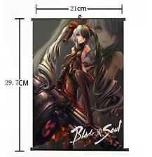 Hot Anime Blade And Soul MMO Po Hwa Ran Twin Tail Home Decor Poster Wall Scroll