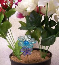 "Garden Decor Flower Pot Plant Pick Stake Acrylic Flowers NEW 7"" tall #1"