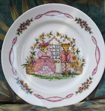 """Hammersley Bone China MAISIE MOUSE Small 6 1/4"""" PLATE Made in England NICE MICE!"""