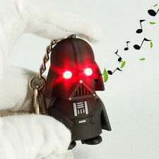 1PC Red Light Up LED Star Wars Darth Vader With Sound Keyring Keychain Chic Gift