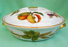 Royal Worcester Evesham Gold entree / serving dish - hops & asparagus 22 size 4