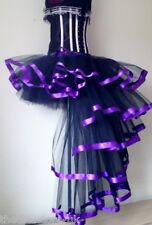 Purple Black Burlesque Dita Tutu Skirt 6 8 10 12 Sexy Bustle Halloween