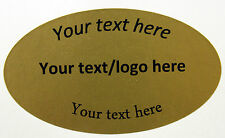 OVALE ORO Labels - 35mm x 60mm-stampato o Plain
