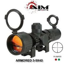 AIM Tactical 3-9x40 Compact Dual Illuminated Armored Scope Fits Picatinny Rails