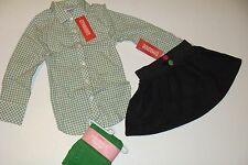 Gymboree Merry and Bright Girls Size 4 Button Top Shirt Leggings Skirt  NWT NEW