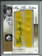 Bill Laimbeer 11/12 SP Authentic Autograph Letter Patch #17/75