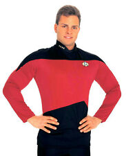 Star Trek: The Next Generation Red Uniform Adult Costume Shirt Size XL