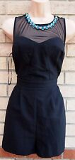 NEW LOOK PARTY MESH BEADED COLLAR EVENNING  PLAYSUIT JUMPSUIT ALL IN ONE 12 M