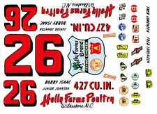 #26 Junior Johnson Holly Farms 1965 Ford 1/25th - 1/24th Scale Waterslide Decal