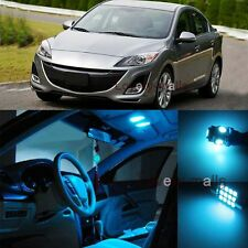 Premium Ice Blue Light Bulb Car Interior LED Package Kit for Mazda 3 2010-2013