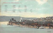 PITTSBURG STEEL MILL MONESSEN PENNSYLVANIA STAMP POSTCARD 1912