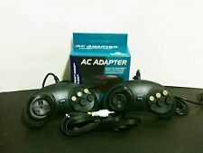 NEW 2 controllers + AV A/V Cable + AC Power Adapter  for Sega Genesis 2 MK-1631