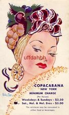 Wesley Morse Copa Girl. COPACABANA NEW YORK Minimum Charge $3.50 and $5.00