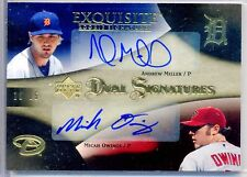 /25 Andrew Miller / Owings 07 2007 Upper Deck UD Exquisite Dual AUTO RC Rookie
