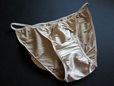 NWOT Victoria's Secret VINTAGE Second Skin Satin String Bikini Panties SZ LARGE