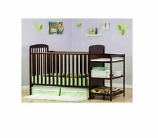 Baby Crib Changing Table Toddler Kid Convertible Bed Nursery Furniture 2in1