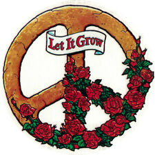 Let It Grow Peace Sign - Window Art Sticker / Decal