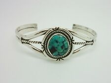 Vintage Native American/Navajo Sterling Silver Turquoise Cuff Bracelet Torque