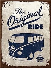 Volkswagen Camper The Original Ride metal fridge magnet    (na)