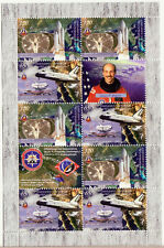 NAGORNO KARABAKH ARMENIA 2011 USA SPACE SHUTTLE COLUMBIA COMBI SHEET MNH R1429ba