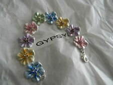 Premier Designs SPRING TIME flower crystal bracelet RV $32 FREE ship w/bin