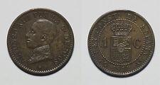 ESPAÑA. SPAIN.  ALFONSO XIII.  ALPHONSE XIII.   1 CÉNTIMO 1911*1  PCV.     EBC