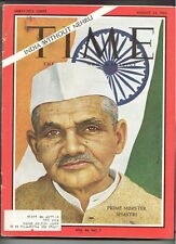TIME magazine A13 1965 India PRIME MINISTER SHASTRI-Killebrew-CIVIL RIGHTS-Autos